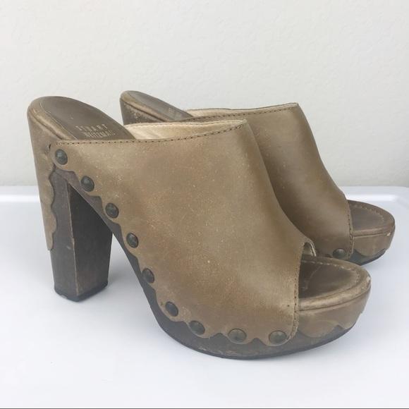 8fb6d5a8c6 Stuart Weitzman Shoes | Sequoia Leather Stud Platform Clog | Poshmark